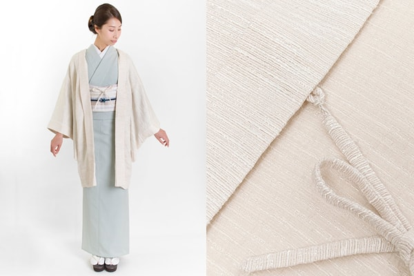 ツイード素材の羽織