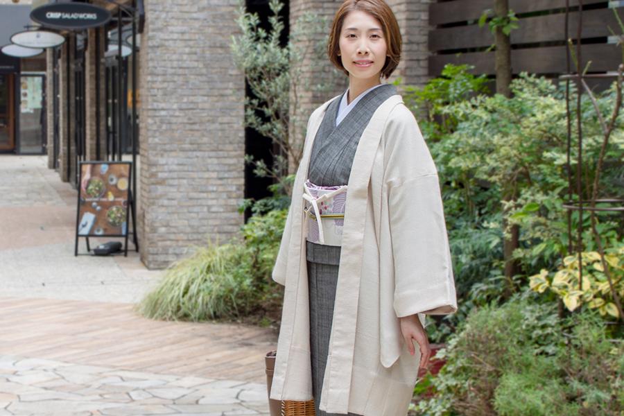 着物 着物屋くるり Haorieシリーズに新作legerライトベージュ登場!