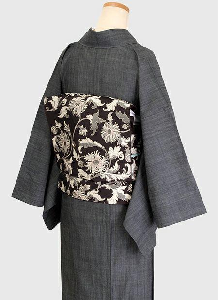 着物屋くるり デニム着物【GIZA】ブラック トルソー着用イメージ