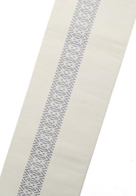 着物屋くるり 博多織半幅帯【CARREAU】アイボリー