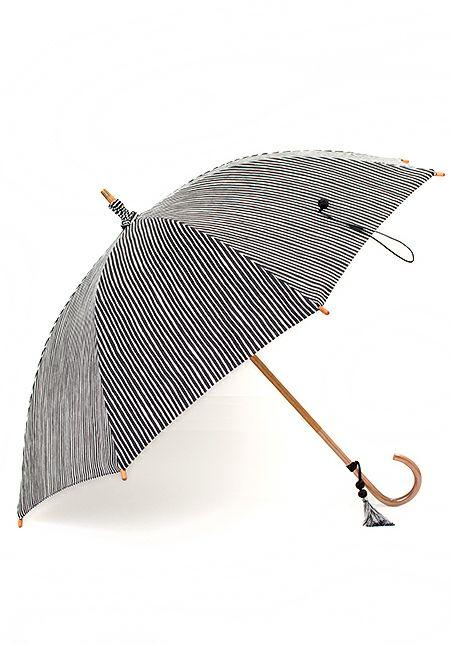 着物屋くるり 暮らしのアイテム 日傘【anby よろけ縞】