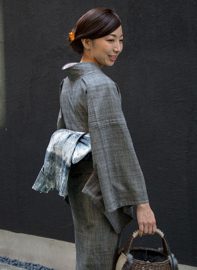 着物屋くるり ファブリック帯【板締め絞り Modern-B