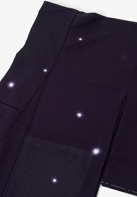 着物屋くるり 夏のウォッシャブル小紋 【絽 蛍暈し】茄子紺 商品詳細