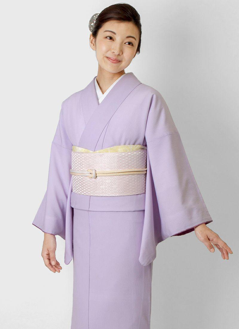 着物屋くるり 博多織名古屋帯【Glass】淡桜