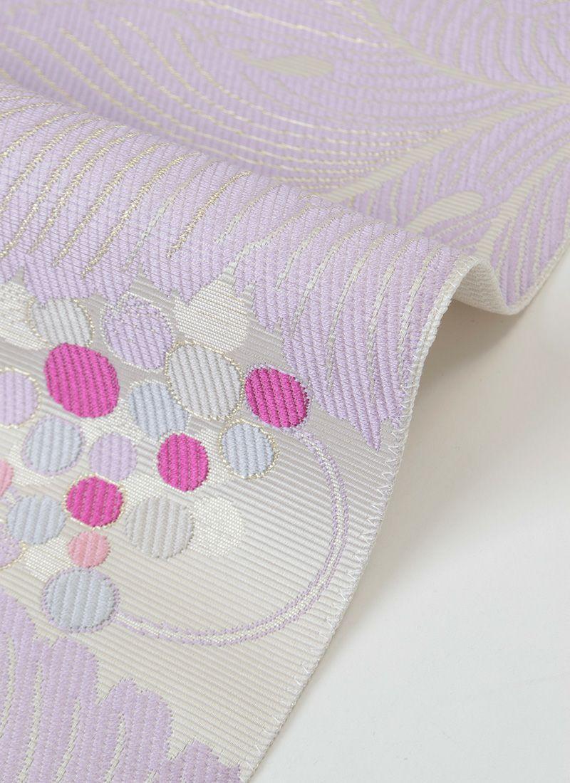 着物屋くるり 博多織名古屋帯【VENA】白菫色