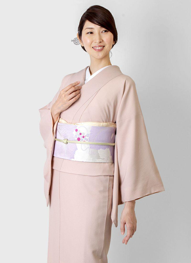 着物屋くるり ウォッシャブル江戸小紋【鮫】灰桜