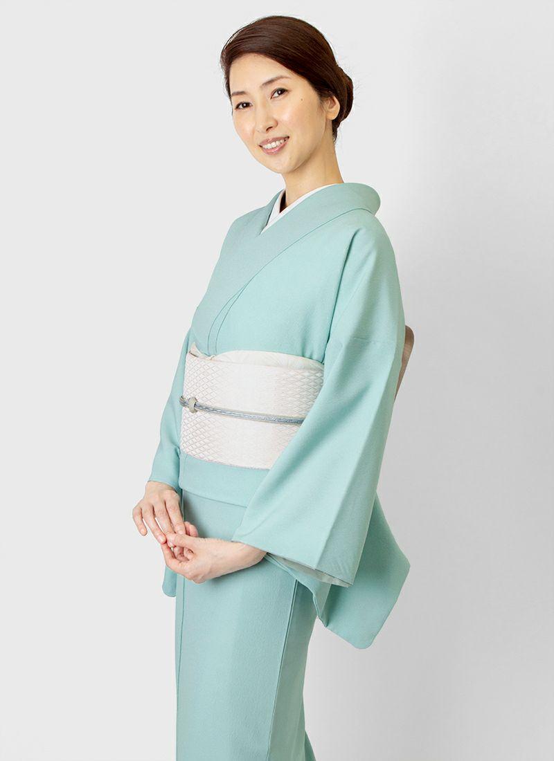 着物屋くるり ウォッシャブル江戸小紋【鮫】青磁