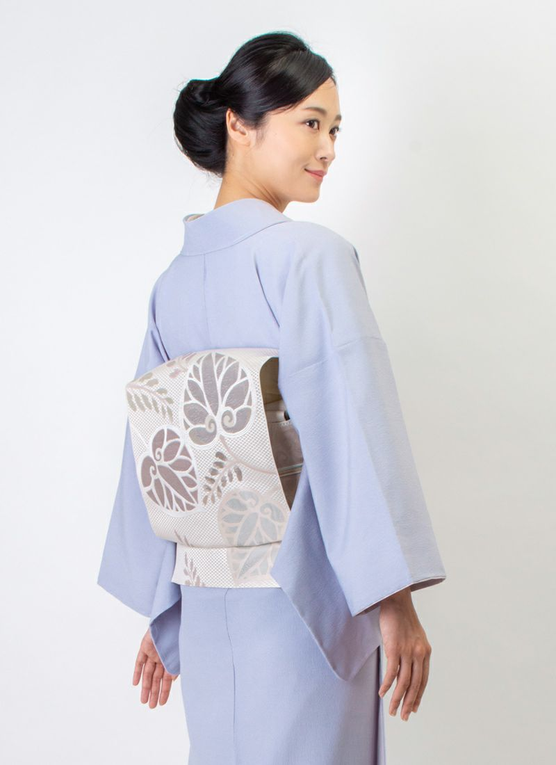 着物屋くるり ウォッシャブル江戸小紋【鮫】藤