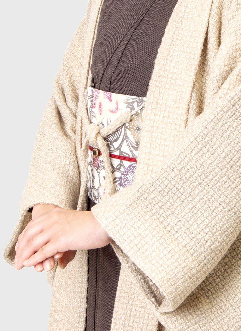 着物屋くるり 羽織【Haorie tricot】ベージュ