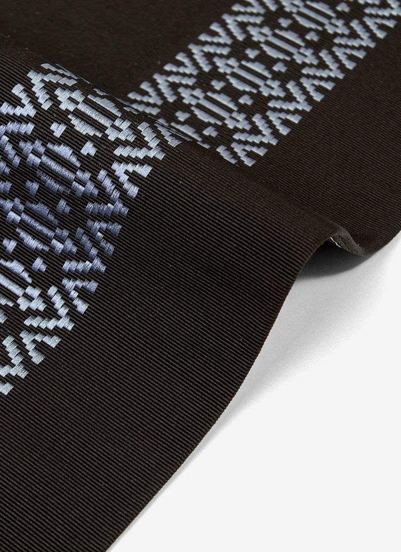 着物屋くるり 博多織半幅帯【CARREAU】ブラウン