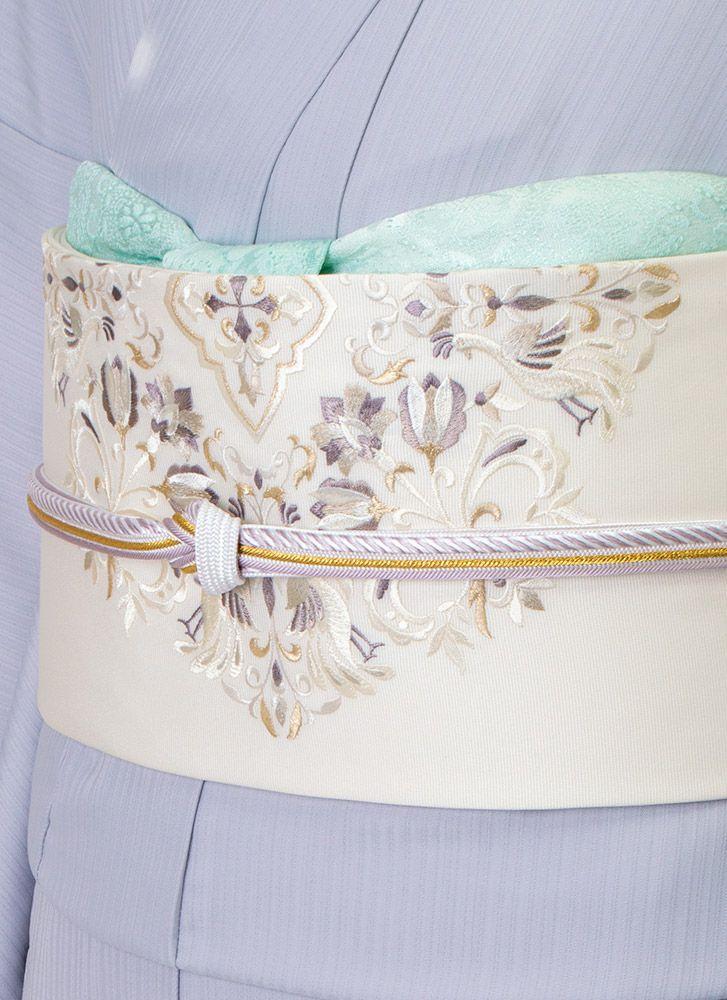 着物屋くるり 刺繍名古屋帯【magnifique】オフホワイト