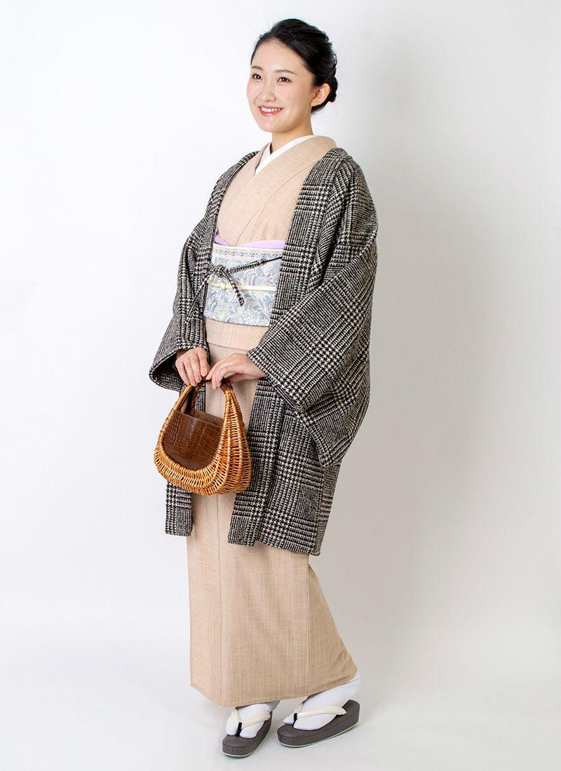 着物屋くるり ウォーム・アッシュ【tweed】ブラウン