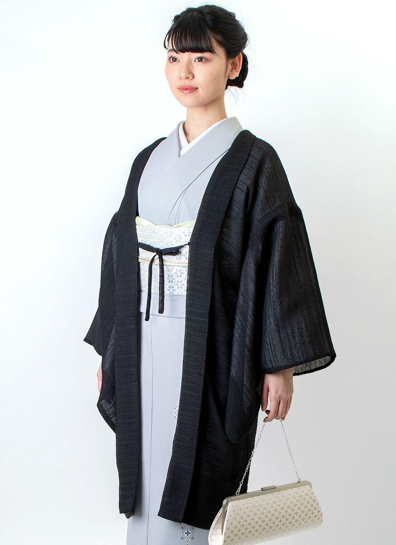 着物屋くるり 羽織【Haorie さざなみ】ブラック
