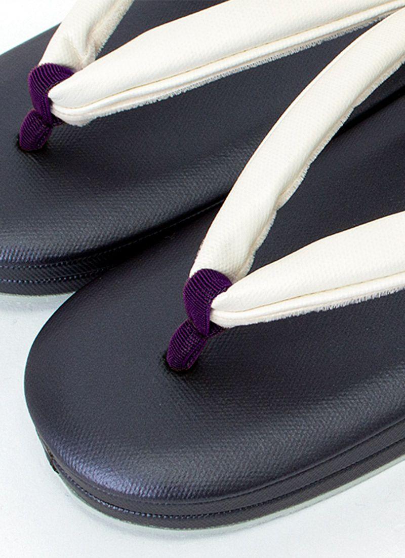 着物屋くるり 高機能草履【Air フラット】濃紫