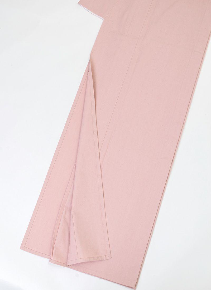 くるり カジュアル着物【灰櫻】裾