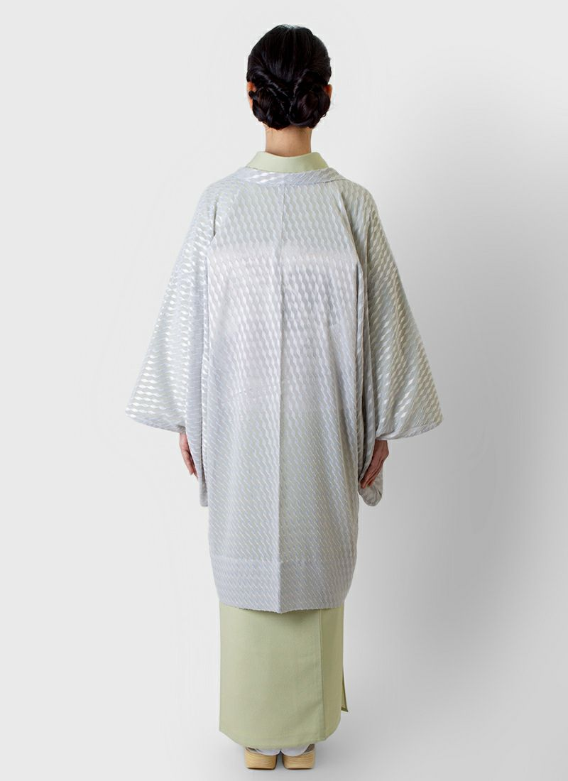 着物屋くるり 羽織【Haorie 星彩】ライトグレー