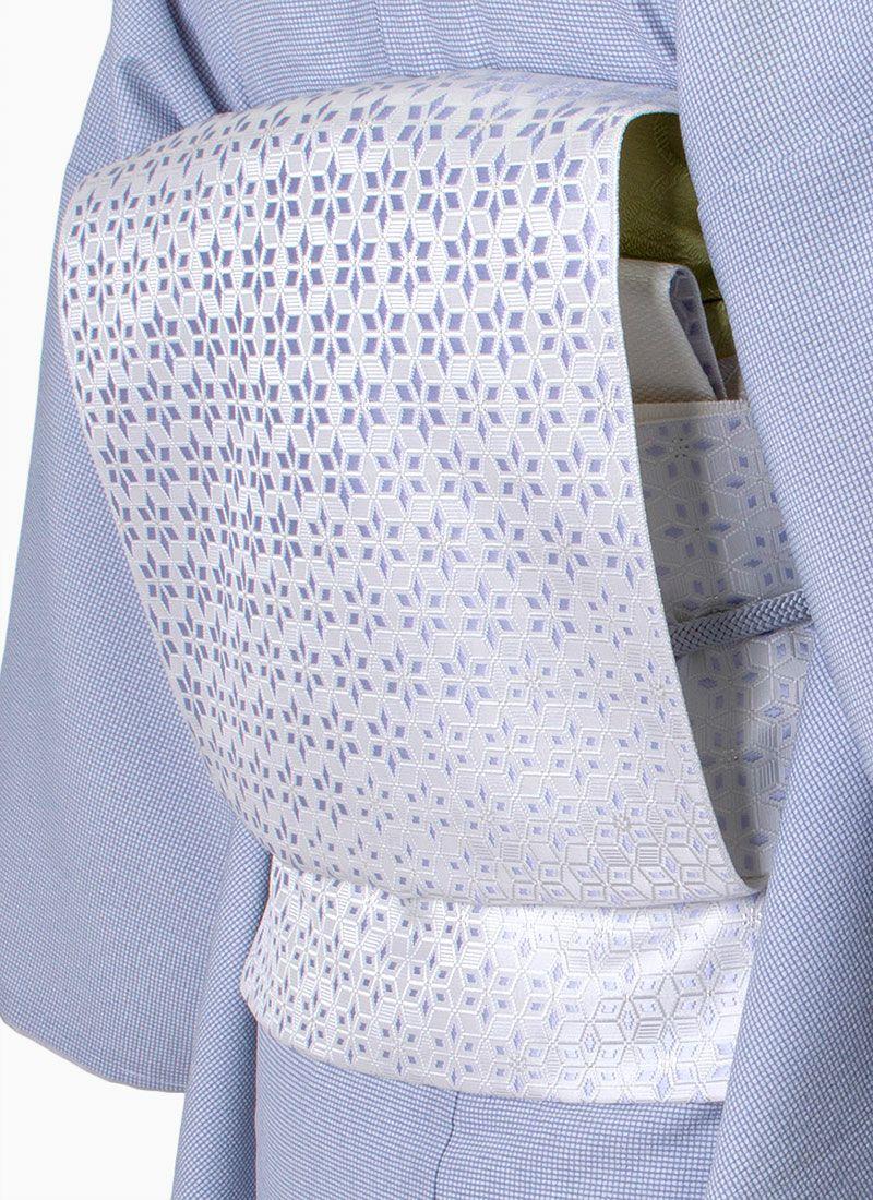 着物屋くるり 博多織名古屋帯 【麻の葉切子】