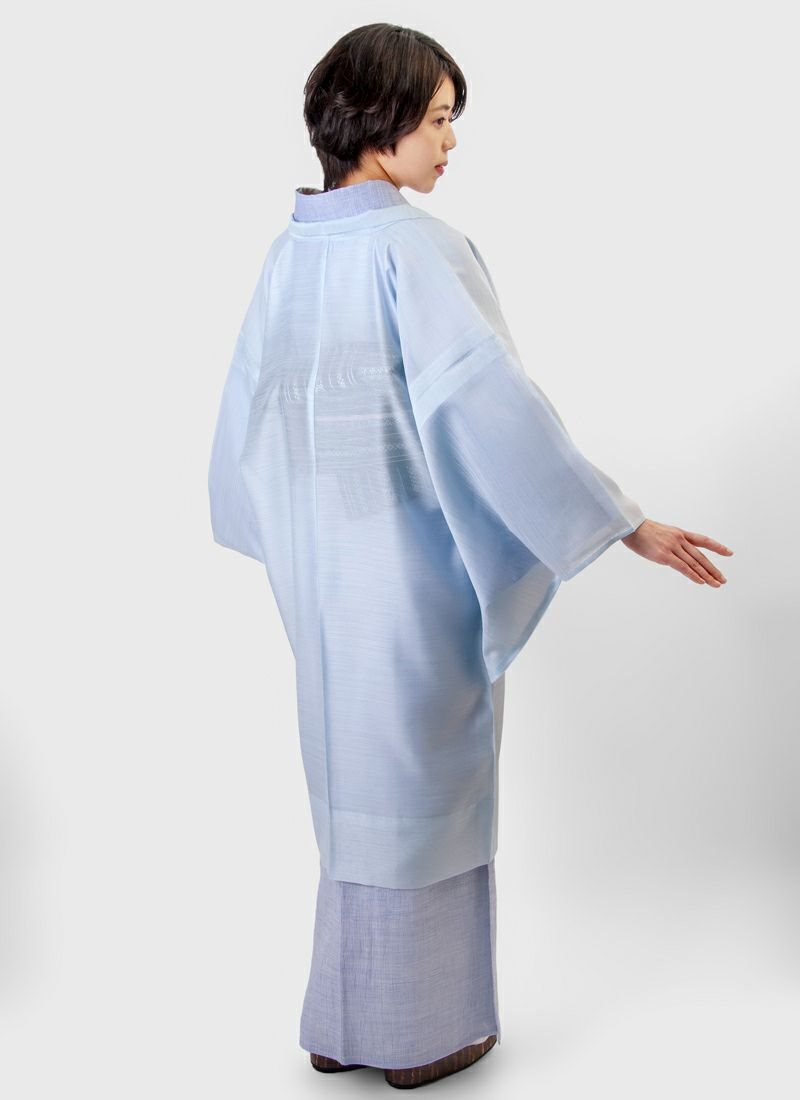 くるり 羽織【Haorie 翠風】藍白