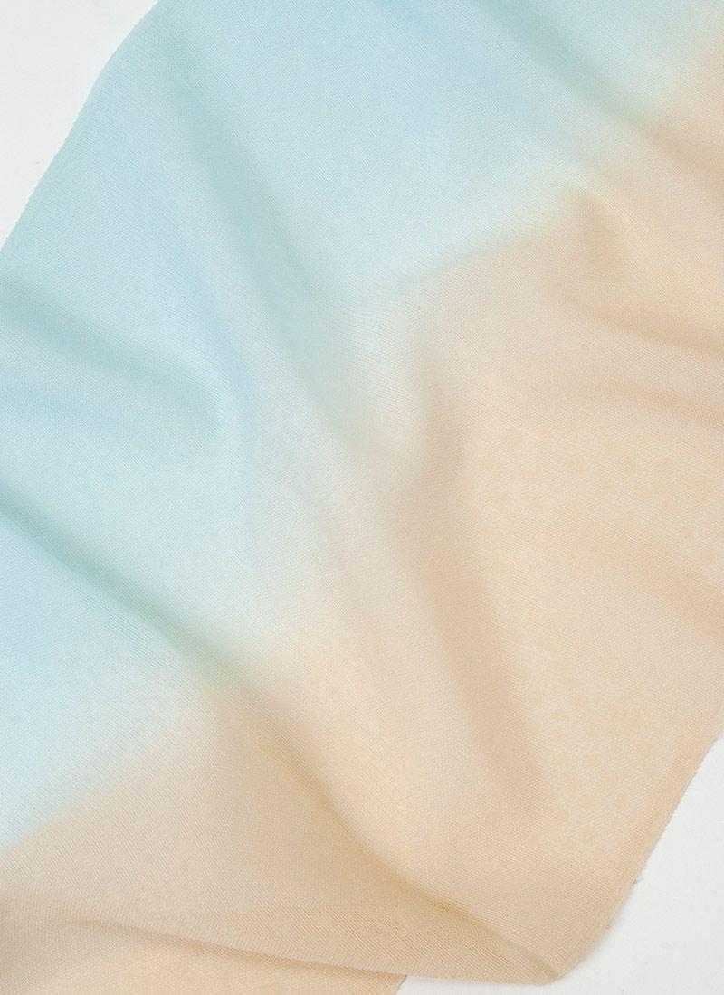 着物 くるり 正絹紗帯揚げ 【二色暈し】水浅葱