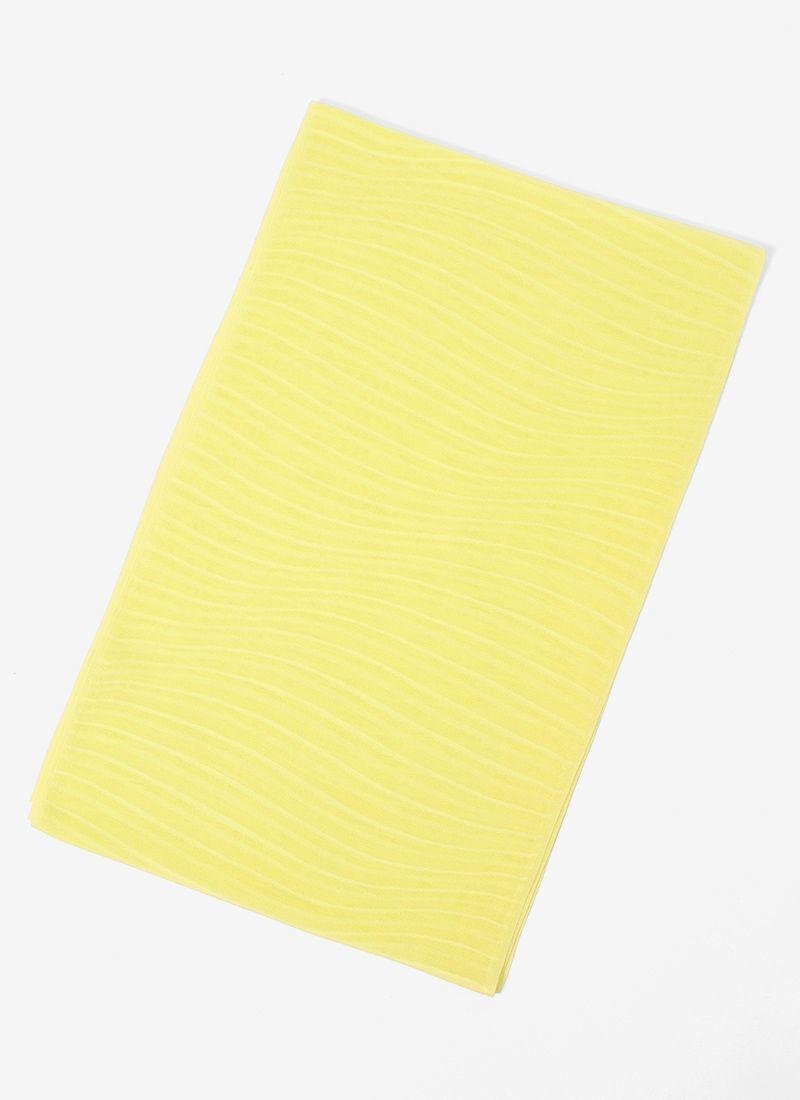 着物 くるり 正絹紗帯揚げ 【波】檸檬
