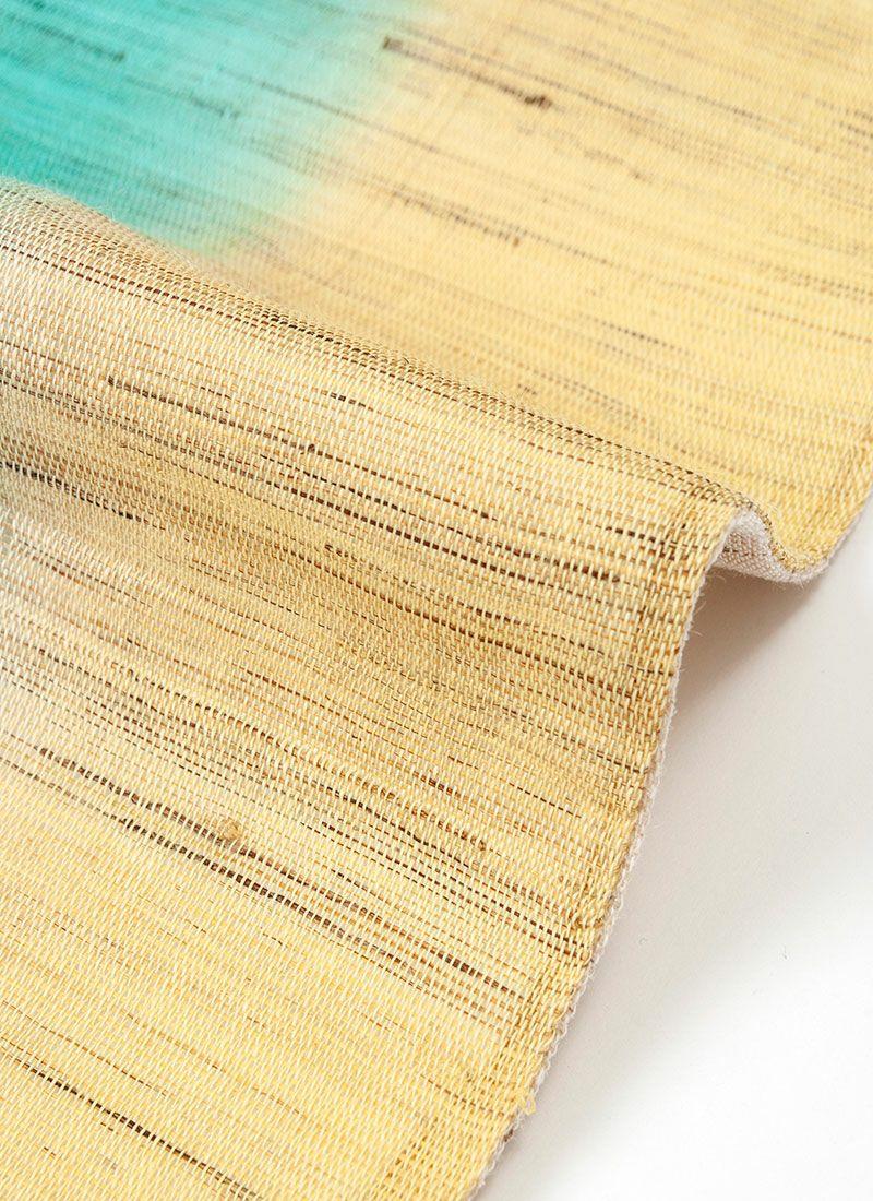 着物 くるり 半幅帯【麻ぼかし】翡翠