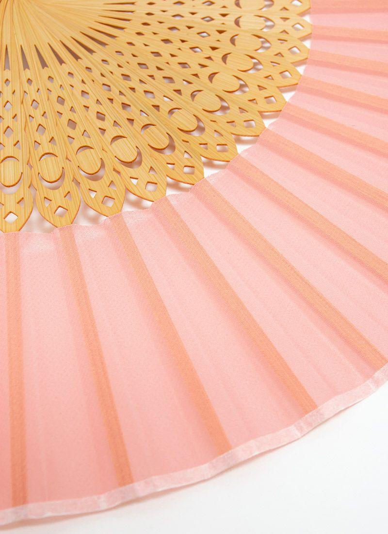 扇子【PEACOCK】ピンク/扇子袋付き