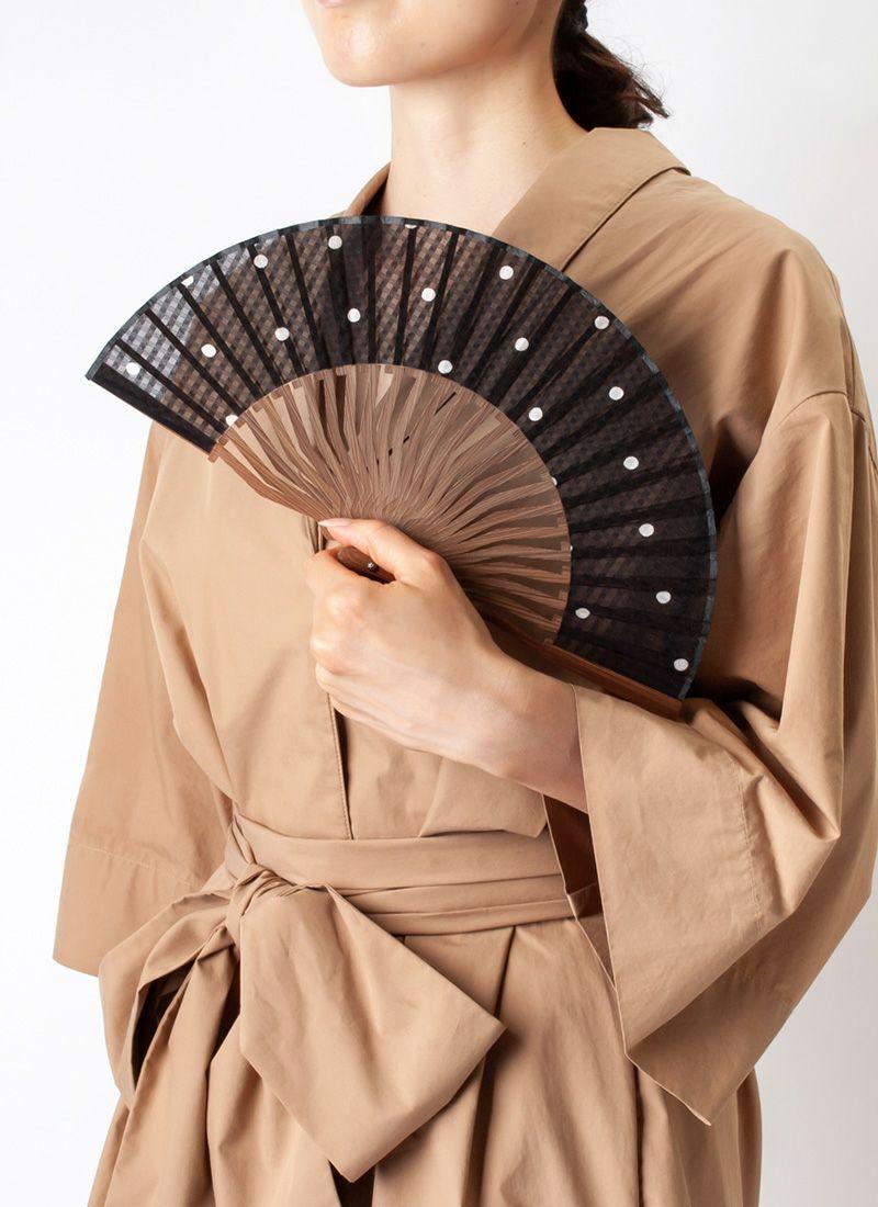 扇子【SEVEN】ブラック/扇子袋付き