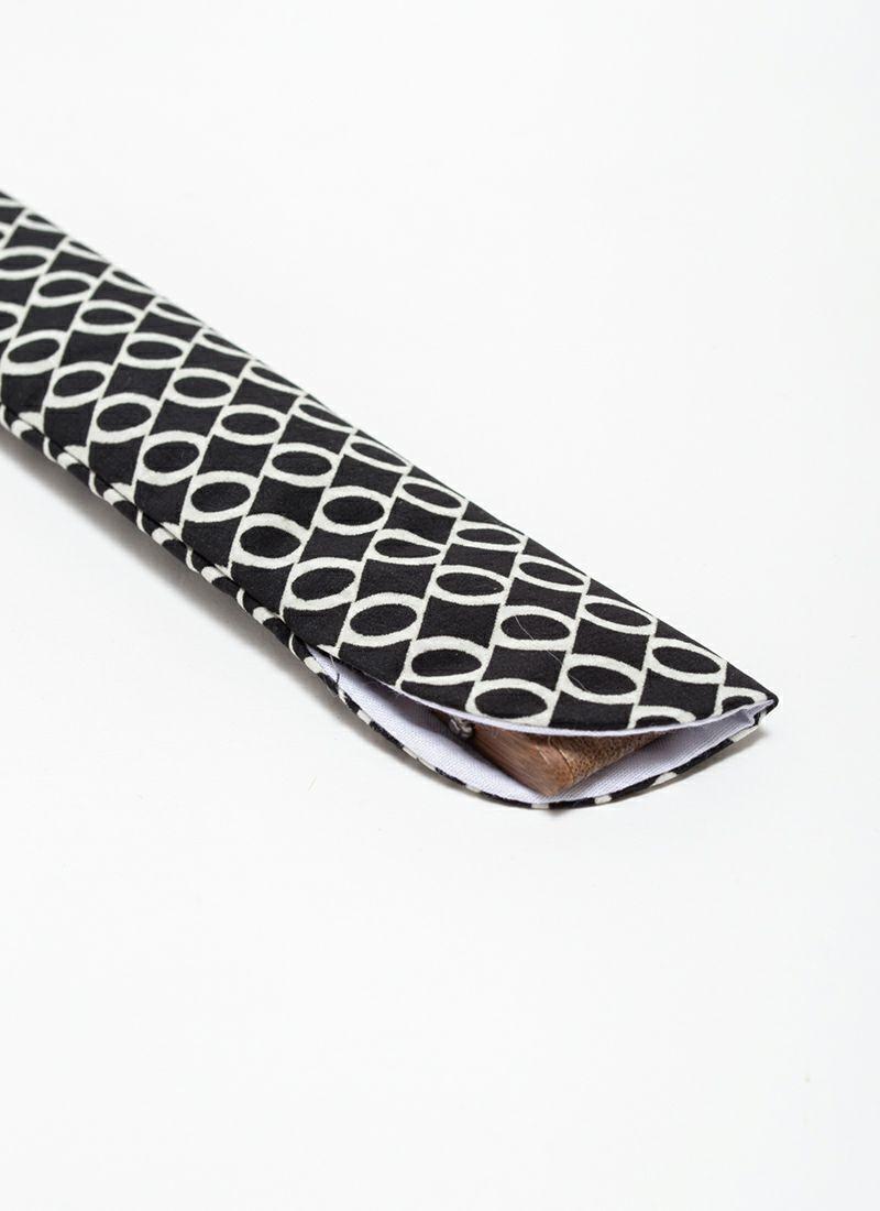 扇子【ZERO】ブラック/扇子袋付き