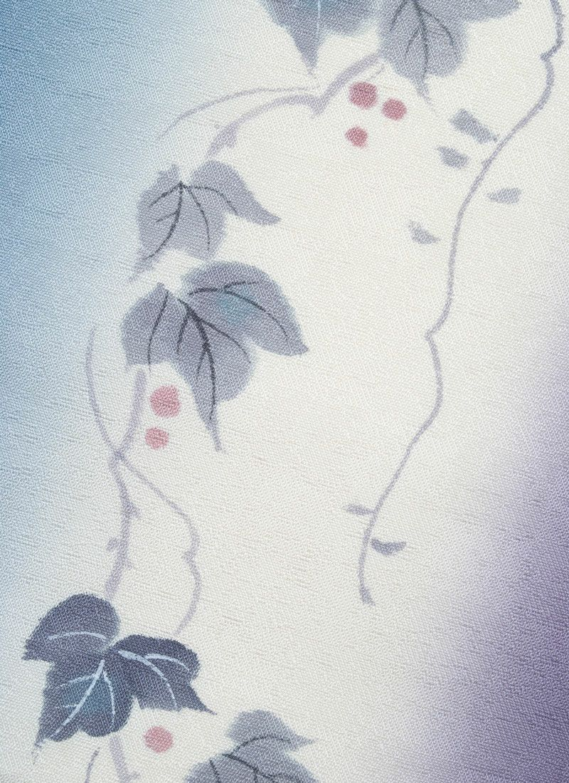 正絹名古屋帯【手描き友禅/引染め 蔦】
