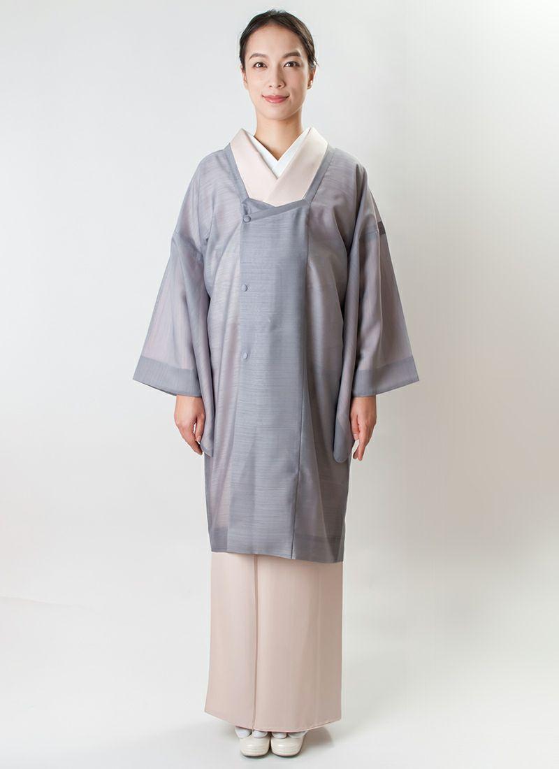 道行コート【neo michi 翠風】薄墨