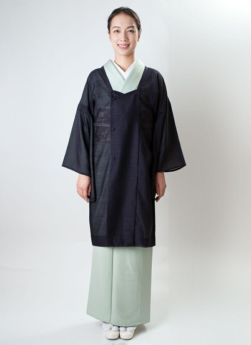 道行コート【neo michi 翠風】烏羽色