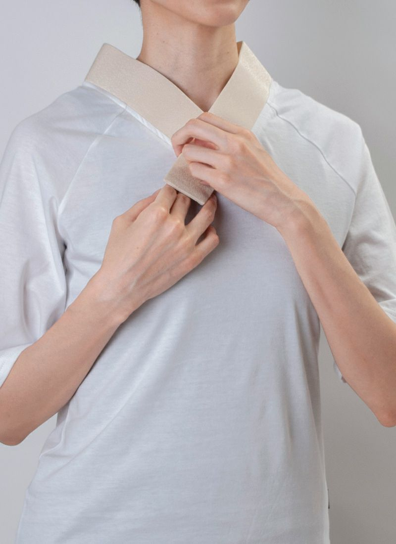 着物インナー【Legrand(ルグラン) ちりめん衿】クリーム/送料無料