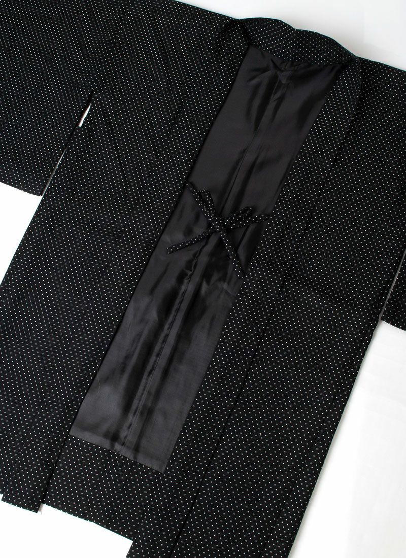 くるり 羽織【Haorie Silver dot】ブラック