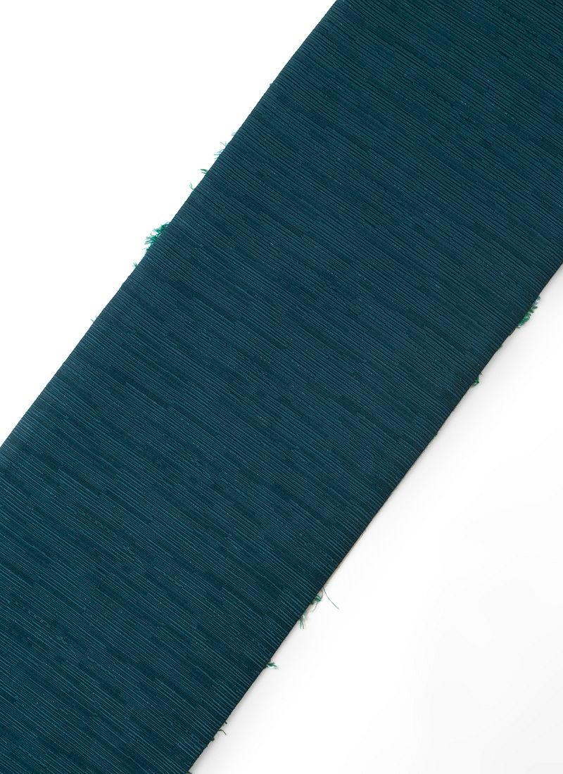 くるり 半幅帯 ボタニカル ブルーグリーン