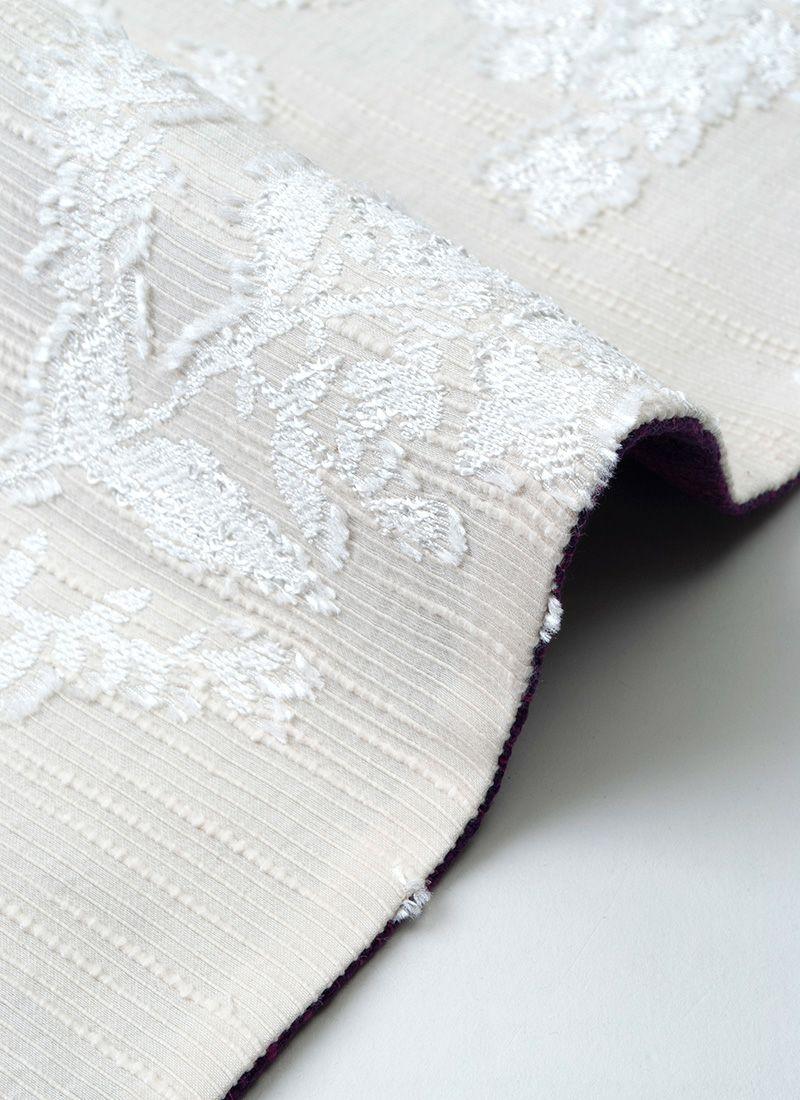 くるり リバーシブル 半幅帯 ボタニカル ホワイト